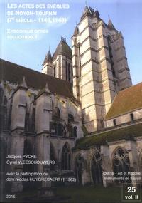 Jacques Pycke et Cyriel Vleeschouwers - Episcopalis officii sollicitudo - Volume 1, Les actes des évêques de Noyon-Tournai (7e siècle - 1146, 1148).