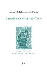 Jacques Réda - Entretien avec Monsieur Texte.
