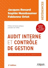 Jacques Renard et Sophie Nussbaumer - Audit interne et contrôle de gestion - Pour une meilleure collaboration.