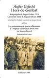 Jacques Renard - Hors de combat - Carnet de route d'August Scharr, 1914 suivi de Les prisonniers de guerre allemands à l'hôpital d'Issoudun (1914-1918).