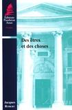 Jacques Robert - Des êtres et des choses.