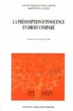 Jacques Robert et Renée Koering-Joulin - La présomption d'innocence en droit comparé - Colloque du 16 janvier 1998.