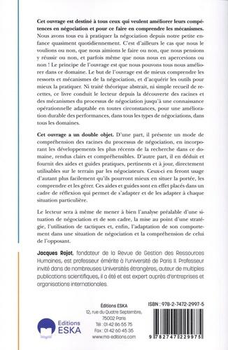 La négociation. Principes, stratégies, tactiques, comportement 3e édition revue et corrigée