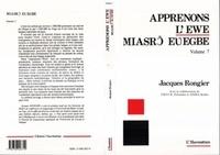 Jacques Rongier - Apprenons l'ewe - volume 7.