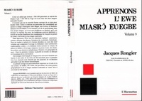 Jacques Rongier - Apprenons l'ewe - volume 9.
