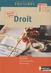 Jacques Saraf - Droit Tle STG.