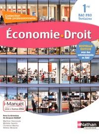 Jacques Saraf - Economie - Droit 1re Bac Pro Tertiaires - Livre + licence de l'élève.