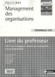 Jacques Saraf - Management des organisations Tle STG - Livre du professeur.