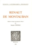 Jacques Thomas - Renaut de Montauban - Edition critique du manuscrit Douce.