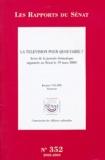 Jacques Valade - La télévision pour quoi faire ? - Actes de la journée thématique organisée au Sénat le 19 mars 2003.
