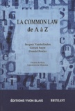 Jacques Vanderlinden et Gérard Snow - La Common Law de A à Z.