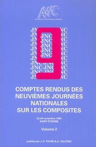 Jacques Verdu - Comptes rendus des neuvièmes Journées nationales sur les composites en 2 Tomes - 22-24 Novembre 1994 Saint-Etienne.