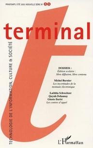 Jacques Vétois et Jean-Pierre Archambault - Terminal N° 89 Printemps-Eté : Edition scolaire : libre diffusion, libre contenu.