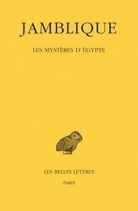 Jamblique - Les mystères d'Egypte.