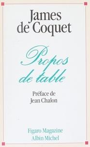 James de Coquet - Propos de table.
