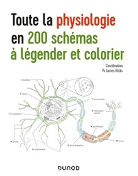 James Hicks - Toute la physiologie en 200 schémas à légender et colorier.