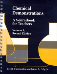 Deedr.fr CHEMICAL DEMONSTRATIONS. Volume 1, A Sourcebook for Teachers, Second Edition Image