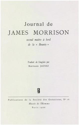 Journal de James Morisson, second maître à bord de la Bounty
