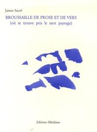 James Sacré - Broussaille de prose et de vers - (Où se trouve pris le mot paysage).