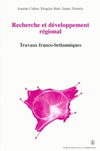 Recherche et développement régional. Travaux franco-britanniques