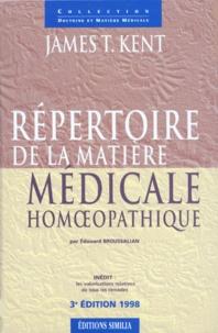 Deedr.fr REPERTOIRE DE LA MATIERE MEDICALE HOMOEOPATHIQUE. 3ème édition avec CD-Rom Image