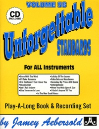 Jamey Aebersold - Unforgettable standards for all instruments. 1 CD audio