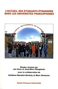 Jan Goes et Jean-Marc Mangiante - L'accueil des étudiants étrangers dans les universités francophones : sélection, formation et évaluation.