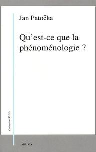 Jan Patocka - Qu'est-ce que la phénoménologie ?.