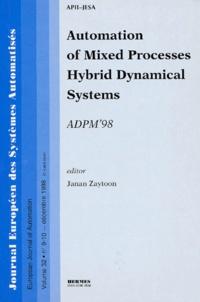 Birrascarampola.it Journal européen des systèmes informatisés Volume 32 N° 9-10 Décembre 1998 : Automation of Mixed Processes Hybrid Dynamical Systems Image