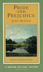 Jane Austen et Donald Gray - Pride and Prejudice - Jane Austen.