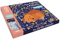 Jane Ryder-Gray - Mes cartes à pailleter nature enchantée - Avec 6 cartes, 6 couleurs de paillettes et un crayon en bois.