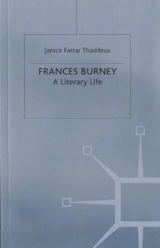 Janice Farrar Thaddeus - Frances Burney.