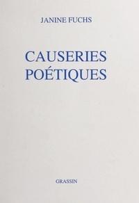 Janine Fuchs et Vivianne de Büren - Causeries poétiques.