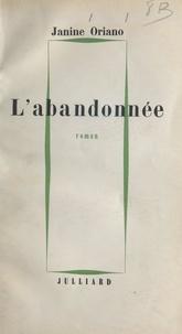 Janine Oriano - L'abandonnée.