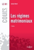 Janine Revel - Les régimes matrimoniaux.