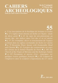 Jannic Durand - Cahiers archéologiques N° 55 : .
