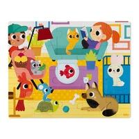 JANOD - JURATOYS - Puzzle tactile Animaux domestiques