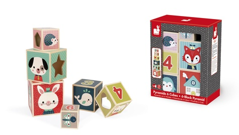 JANOD - JURATOYS - Pyramide 6 cubes Baby Forest