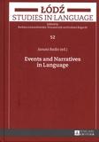 Janusz Badio - Events and Narratives in Language.