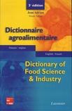 Jean Adrian et Nicole Adrian - Dictionnaire agro-alimentaire.
