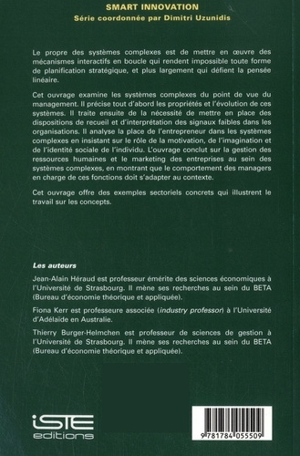 Management créatif des systèmes complexes. Smart innovation volume 20