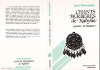 """Jean Amrouche - Chants berbères de Kabylie - """"poésie et théâtre""""."""