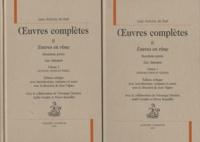 Jean-Antoine de Baïf - Oeuvres complètes - Tome 2, Euvres en rime 2e partie, Les Amours : Volume 1, Introduction et textes Volume 2, Notices, notes et index, 2 volumes.