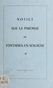 Jean Arnoult - Notice sur la paroisse de Fontaines-en-Sologne.