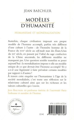Modèles d'humanité. Humanisme et mondialisation
