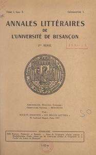 Jean Bapicot et Maurice Perriguey - Notes de géographie urbaine comtoise et montbéliardaise.