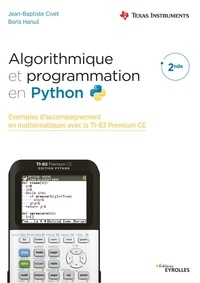 Jean-Baptiste Civet et Boris Hanus - Algorithmique et programmation en Python 2nde.