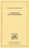 Jean-Baptiste de La Grange - Les principes de la philosophie - Tome 2.