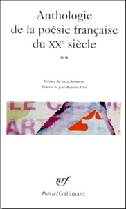 Jean-Baptiste Para - Anthologie de la poésie française du XXe siècle - Tome 2.