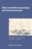 Jean-Baptiste Racine - Pour un droit économique de l'environnement - Mélanges en l'honneur de Gilles J. Martin.